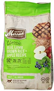 Merrick Classic 5-Pound Adult Real Lamb, Brown Rice and Apples Dog Food, 1 Bag