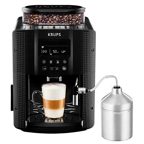 KRUPS EA8160 Kaffeevollautomat (1,8 l, 15 bar, LC Display, AutoCappuccino-System) schwarz thumbnail