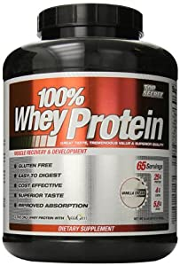 Top Secret Nutrition 100% Whey Protein Powder, Vanilla, 5 lbs.