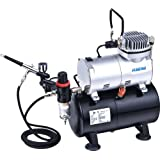 Mini Airbrush Compressor With Tank Complete Kit As186k