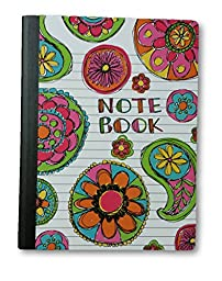 Primary Colors Graffiti Composition Book with 100 Ruled Sheets (588) (Flowers)