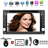 2 Din 6.2'' Car DVD Player Support GPS Navigation Car Stereo Video/Radio in Dash Support BT/SWC/USB/SD+Free Backup Camera