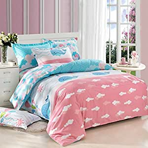Cliab whale bedding ocean bedding twin 100 for Fish bedding twin