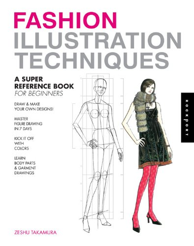 Fashion Illustration Techniques: A Super Reference Book for Beginners image