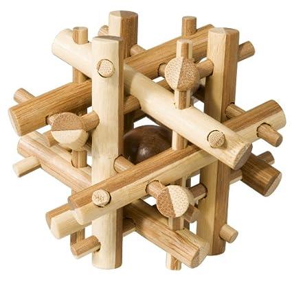 Fridolin 17492 Brainteaser Puzzle Bamboo Level 2 Hard
