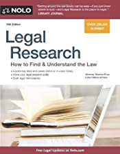 Legal Research How to Find and Understand the Law by Stephen Elias