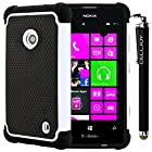 CellJoy® Triple Defender Layered Armor Back Cover Case for Nokia Lumia 521 (At&t / Metro / T-Mobile / Cricket) ***WILL NOT FIT LUMIA 520*** [CellJoy Retail Packaging] + Smoothglide Capacitive Stylus Touch Pen (White / Black)