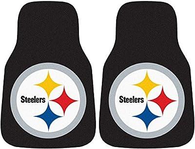 Fan Mats Pittsburgh Steeler Carpet Car Mats (2 Pc)