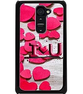 ColourCraft Love Pattern Design Back Case Cover for LG G2