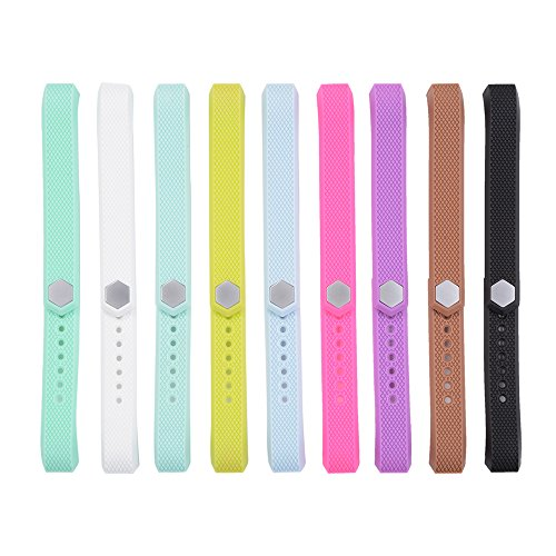 XCSOURCE 9pcs Colorful Replacement Wristband with Metal Clasps for Fitbit Alta (No Tracker, Replacement Bands Only) TH428