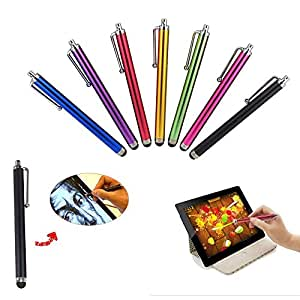 TREASURE VALLEY 8 Pcs Set Colorful Universal Stylus/Styli Touch Screen Pen for iPhone 5,5C, 5S, 4S,4,iPad 4 iPad Mini, iPad 2, Samsung S4,I9500,I9300, Galaxy Note 2 II N7100, Galaxy S IV/4,, Galaxy S III S3, HTC One, Android Tablet PC,Windows Tablet PC