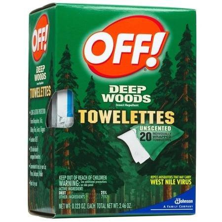 Deep woods Toewelettes that repels gnats