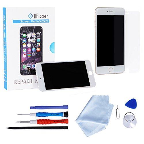 iFixer LCD Schermo Da Sostituire KIT Con Vetro Bianco per iPhone 6 plus