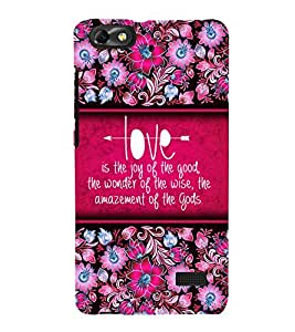 Love Is Joy 3D Hard Polycarbonate Designer Back Case Cover for Huawei Honor 4C :: Huawei G Play Mini