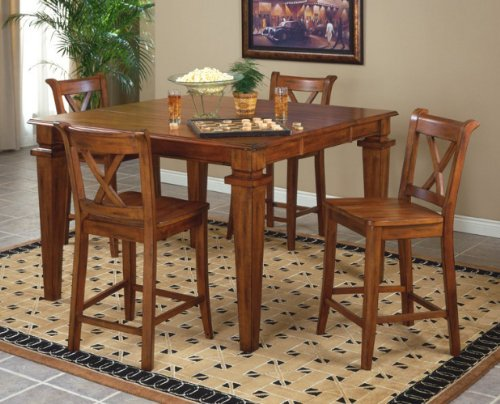 Buy Low Price Entree Entree Cornwall Counter Height Dining Table with Butterfly Leaf (CRN-545436T, CRN-545436B)