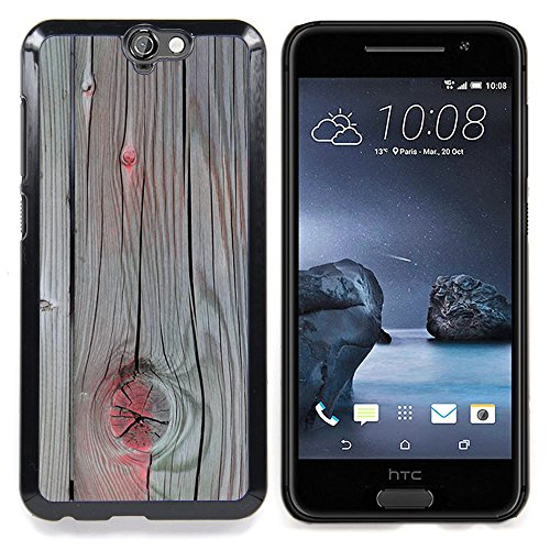 Accent Grey Wood Paint Cracked Custodia protettiva Progettato rigido in plastica King Case For HTC ONE A9
