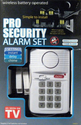 Pro Security Alarm Set (As Seen On TV Keypad Arm Codes)