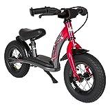 Bikestar 10 Inch (25.4cm) Kids Balance Bike / Kids Running Bike Classic Red & Grey
