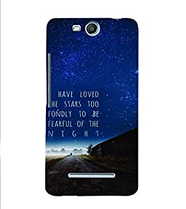 PrintVisa Quotes & Messages Stars 3D Hard Polycarbonate Designer Back Case Cover for Micromax Bolt Q338