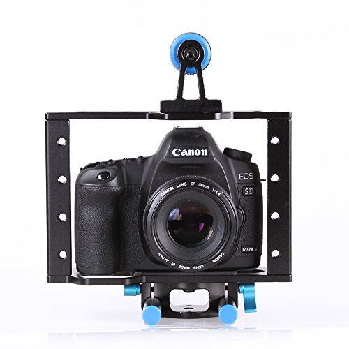 Fotga Aluminum Dslr Camera Cage Kit Support for Canon 5d Mark Ii 7d 60d 15mm Rod Rig (5d Mark Ii Rig compare prices)