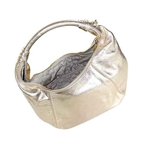 Michael Kors Pale Gold Leather Item Hobo Shoulder Bag