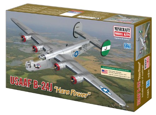 Modellino Aereo B-24J Halle power the United States Army Air Forces Scala 1:72 (Importato da Giappone)
