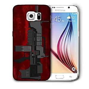 Snoogg Mini Machine Gun Red Designer Protective Back Case Cover For SAMSUNG GALAXY S6