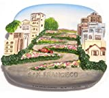 Lombard Street San Francisco USA America 3D Resin TOY Fridge Magnet Free Ship