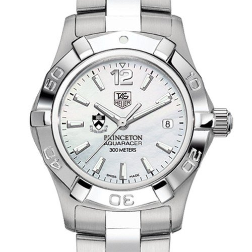 TAG HEUER watch:Princeton University TAG Heuer Watch - Women's Steel Aquaracer with Mother of Pearl Dial at M.LaHart Images