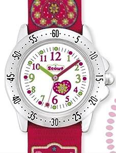 Scout Mädchen-Armbanduhr Analog Quarz Textil 280378000