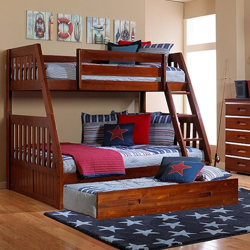 Discovery World Furniture Merlot Mission Bunk Bed Twinfull