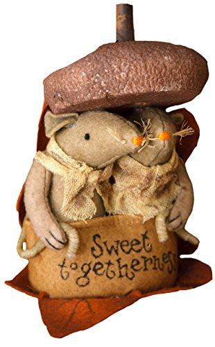 Your Hearts Delight Sweet Togetherness Pumpkin Pals Mouse Decor, 3 by 6-Inch
