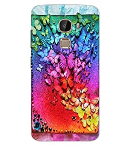 ColourCraft Lovely butterflies Design Back Case Cover for LeEco Le 2