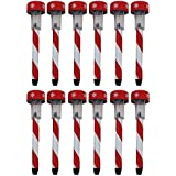 Holiday Candy Cane Solar Light Stakes (Set of 12)