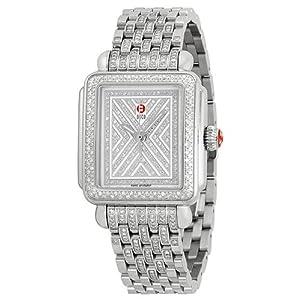 Michele Watches, Women's Art Of Deco Diamond, Diamond Dial Diamond Bracelet