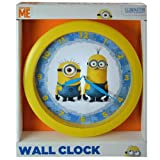 Pixar Despicable Me 10 Wall Clock: Minion Wall Clock Quartz Accuracy, Easy Wall Mounting. Battery Operated Requires 1 Aa Battery (Not Included)