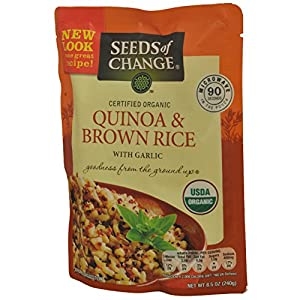 Seeds of Change Microwavable Quinoa and Brown Rice with Garlic, 8.5-Ounce (Pack of 4)
