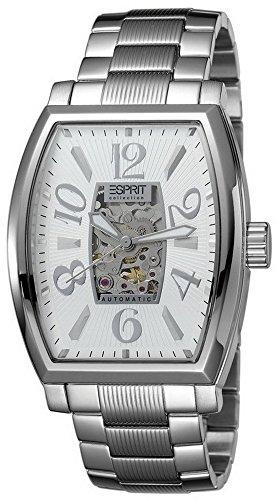 Esprit  Asterion - Reloj de automático para hombre, con correa de acero inoxidable, color plateado
