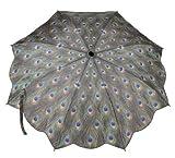 Galleria-Peacock-Auto-Open-Close-Super-mini-Umbrella---Peacock