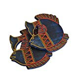 VarEesha Handcrafted Blue Fish Coasters