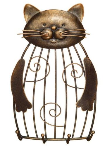 Decobreeze Home Holiday Decoration Cage Keyring Holder-Cat