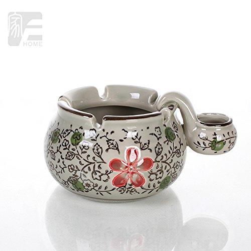 creative-gifts-fashion-ashtray-ceramic-ashtray-antique-ashtray-korea-underglaze-color-safflower-