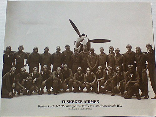 Tuskegee Airmen Gift For Christmas ,Birthday,Mother's Day,Farther's Day Or Black History Month 8 x10 Photo (no frame)With Inspirational Quote (License Plate Frame Motivational compare prices)