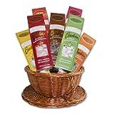 World Wide Gourmet Foods Tea Cookie Basket, Deluxe Edition