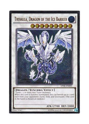 遊戯王 英語版 AP08-EN001 Trishula, Dragon of the Ice Barrier 氷結界の龍 トリシューラ (アルティメットレア)