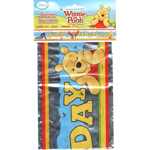 Winnie the Pooh Happy Birthday Banner - 1