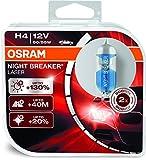 #5: Osram H4 Laser Night Breaker Duo Box 64193NBL-HCB Light (60/55W, 12V, 2 Bulbs)