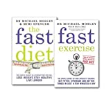The Fast Diet, Fast Exercise 2 Books Collection Set, Lose Weight, Stay Healthy, Live Longer
