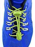 Elastolaces - No Tie Shoe Lock Laces - 2 Additional Clips - Marathon Sport Schedule (Screamin Green)