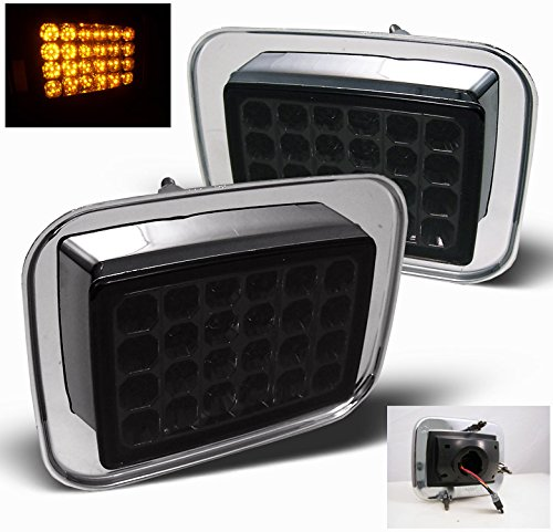 ZMAUTOPARTS Hummer H2 Sut LED Front Side Corner Signal Light Lamp Smoke (Hummer H2 Parts compare prices)